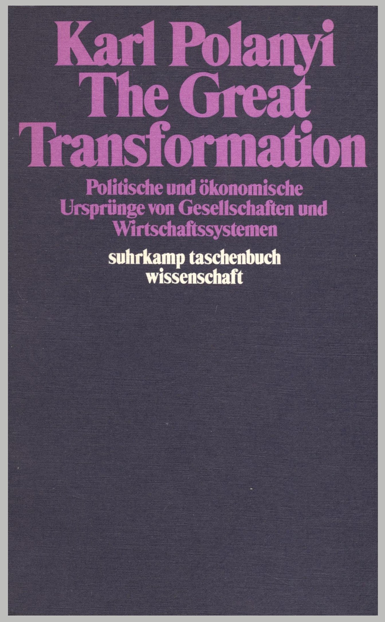 karl polanyis the great transformation essay Mihály pollacsek father of karl and michael polanyi  and modern economics: essays of karl polanyi (new york karl polanyi, the great transformation:.
