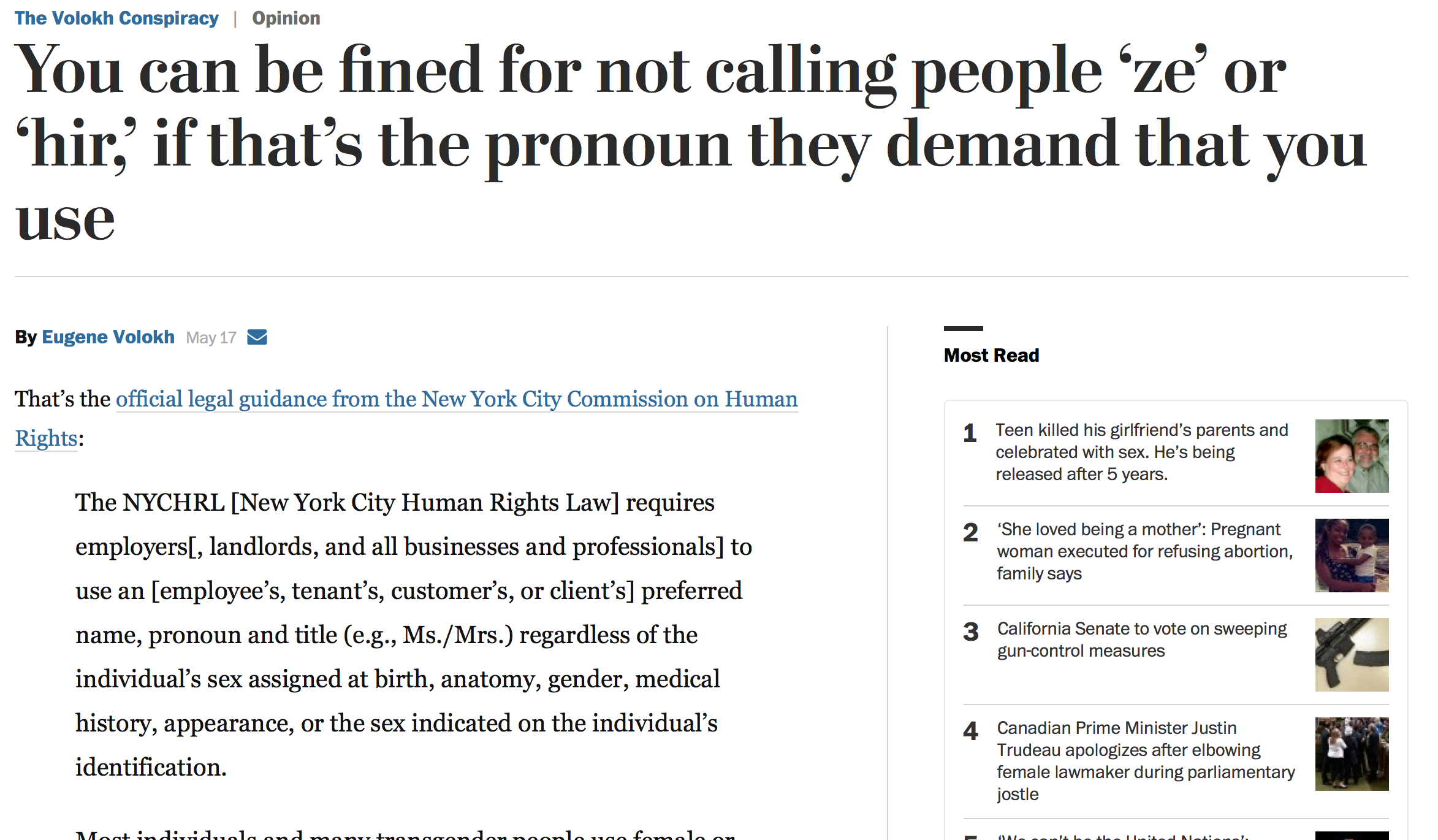 news volokh conspiracy fined calling people thats pronoun they demand that