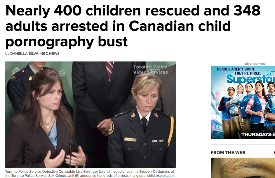 news other nearly children rescued adults arrested canadian child pornography