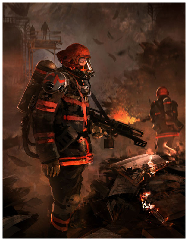 fahrenheit 451 the firemen Fahrenheit 451 is a 1966 british dystopian science fiction film about a dystopian future in that a fireman must destroy all books and begins to question his task.