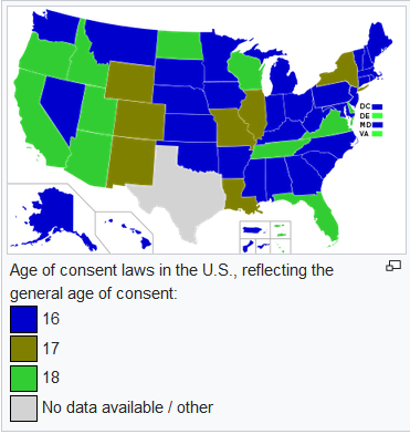 What is the legal age limit of dating in missouri