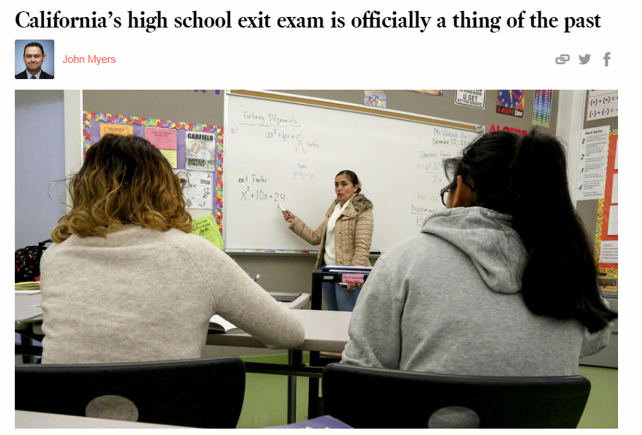 hs exit exams Exit exams decrease graduation rates status: archived subject: k-12 testing two recent studies report striking evidence that exit exams decrease high school.