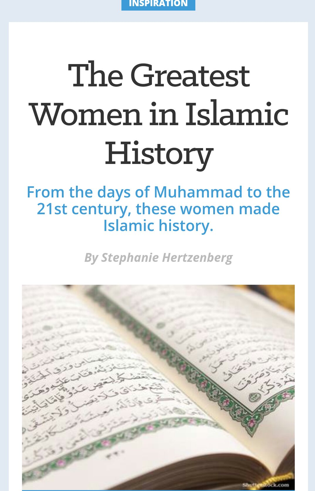 the greatest women from an islamic