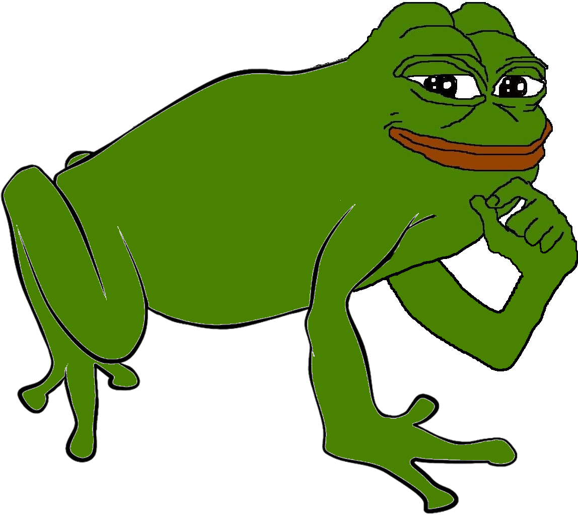 """the frog and man Sad frog is a cartoon drawing of a depressed-looking frog, often accompanied by the text """"feels bad man"""" or """"you will never x"""" it is used to denote feelings of failure or disappointment."""