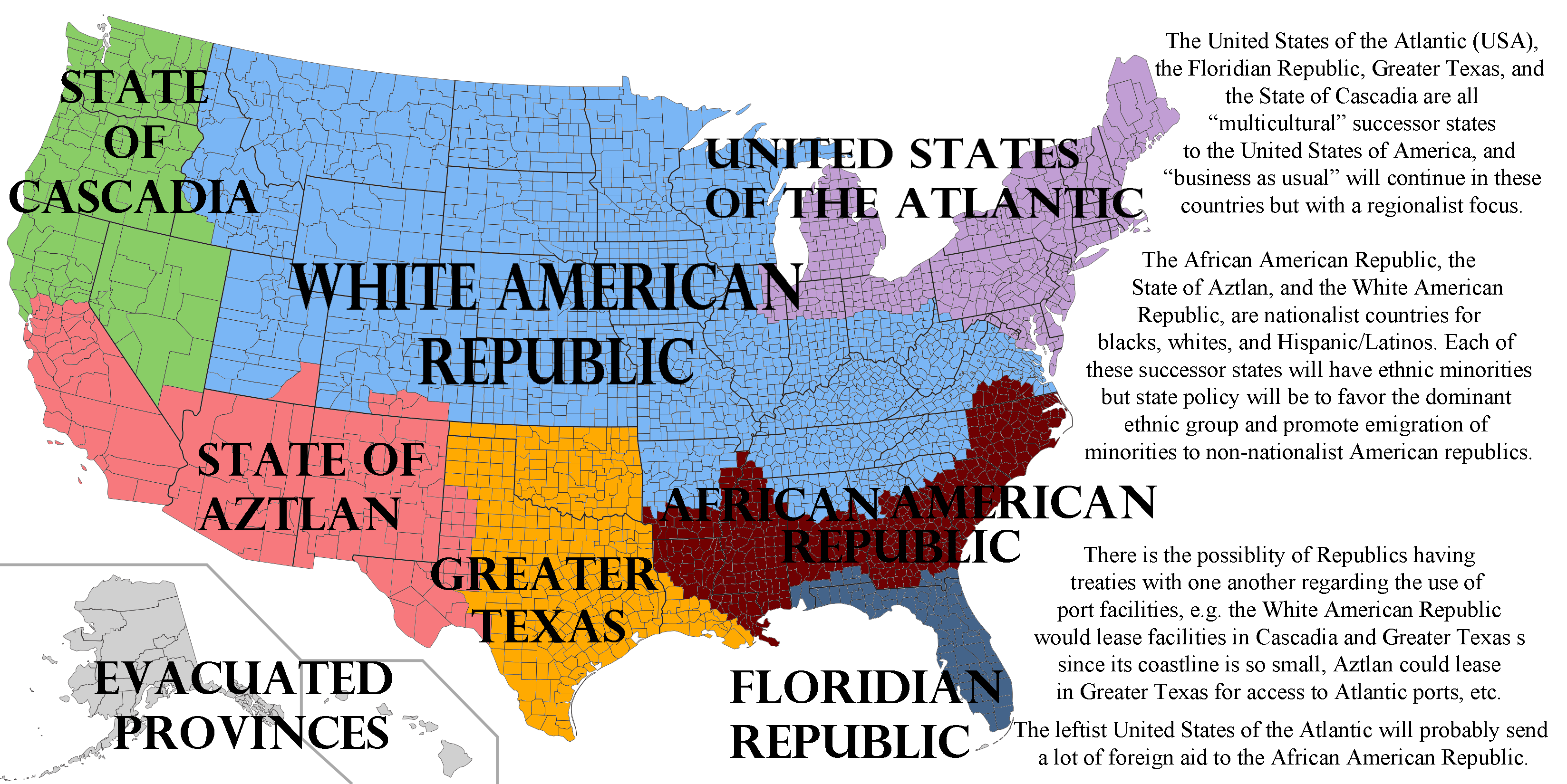 Pol Politically Incorrect Thread - Future map of the united states