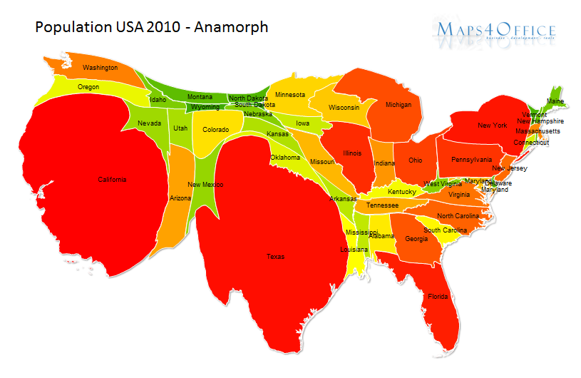 Map Of Population Density In Us - Us map with population