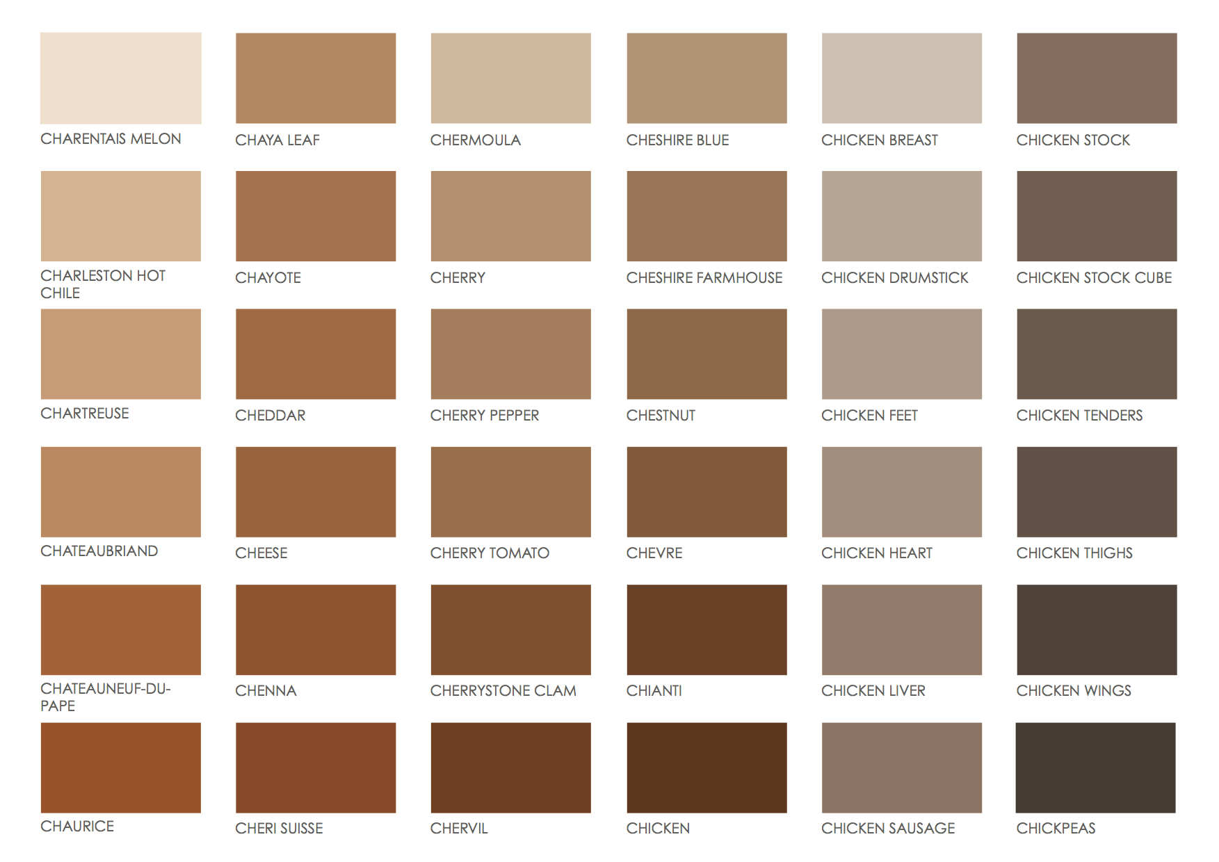 Brown Color Chart Paint Euffslemani