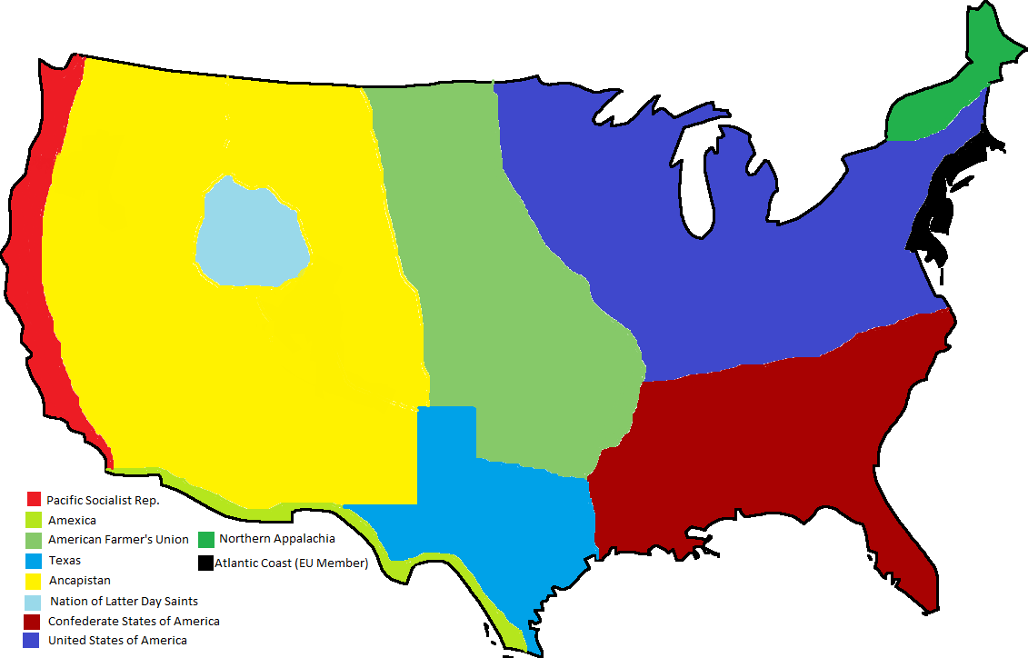 States Of The Confederate States Two Americas Alternative Maps - Incorrect us map
