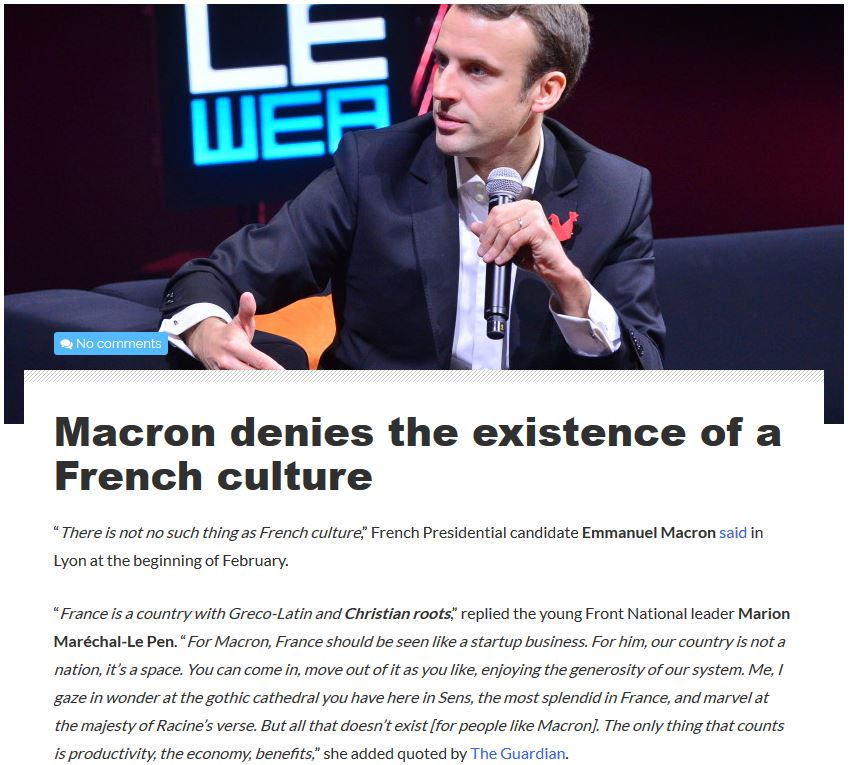 recipe: macron french have no culture [3]