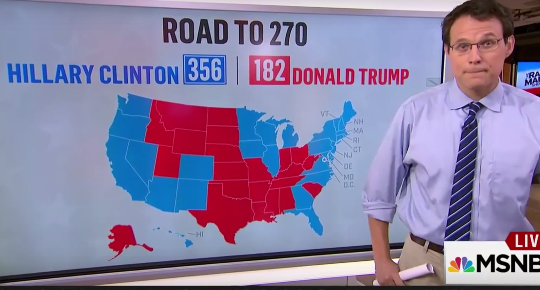 Msnbc Political Map.Should Phaw Be Questioning The Intellect Of Righty Discussionist