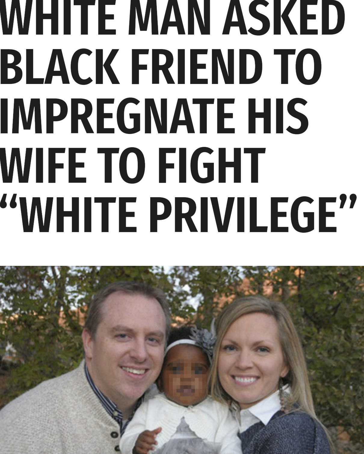 impregnated captions black wife White