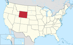 Wyoming Wikipedia - The united states map with names