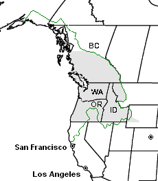 Pacific Northwest Wikipedia - Outline map of us and canada