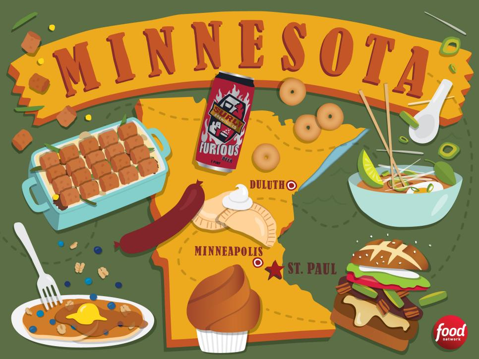 The Best Food In Minnesota Food Network Best Food In America - What state is mn