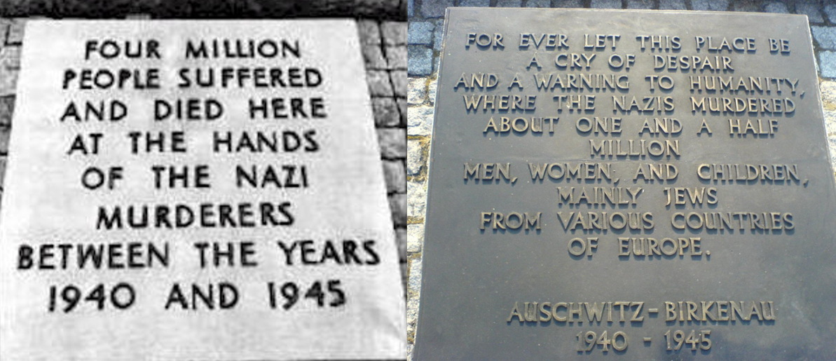 Image result for auschwitz plaque changes numbers